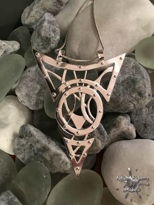 silver industrial necklace2