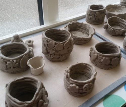 Flower pot clay workshop
