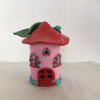Pink & Red Fairy House
