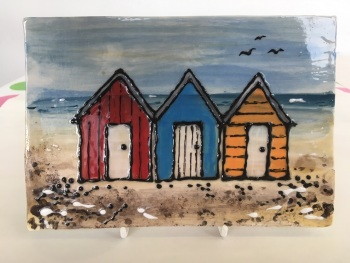 Beach Hut Plaque