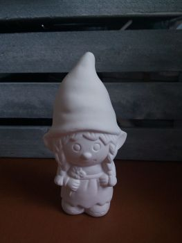 Paint your own girl gnome