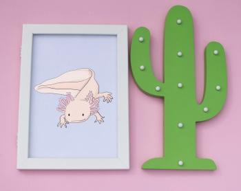 Axolotl A4 Print