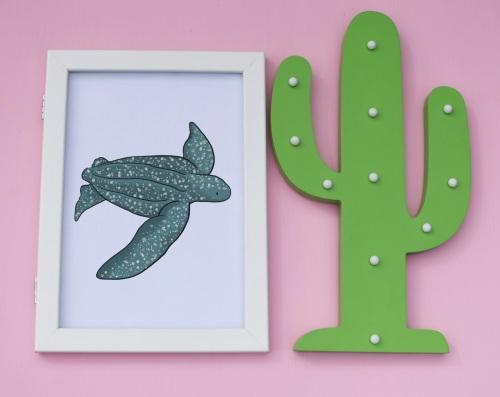 Leatherback Turtle A4 Print