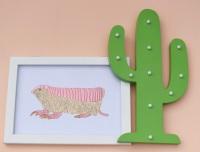 Pink Fairy Armidillo A4 Print