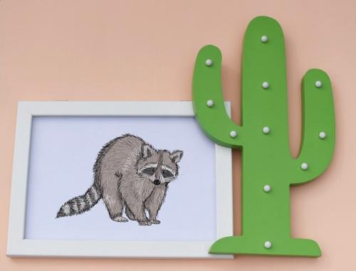 Raccoon A4 Print