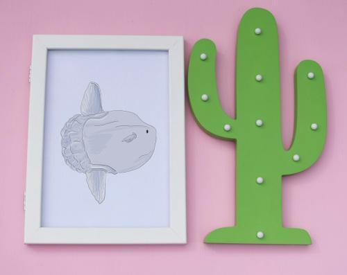 Sun Fish A4 Print