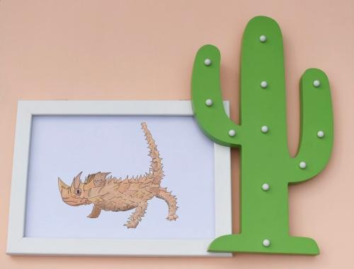 Thorny Dragon A4 Print