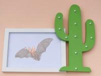 Brown Long Eared Bat A4 Print