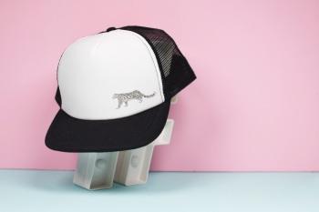 Snow Leopard Trucker Hat