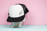 Crowned Crane Trucker Hat