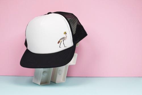 Crowned Crane Trucker Hat