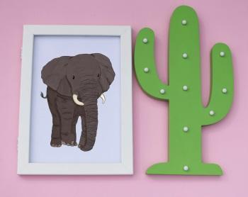African Elephant A4 Print