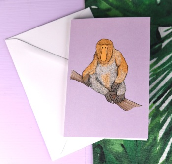Proboscis Monkey Card