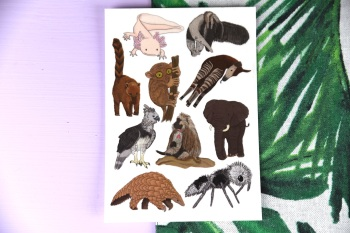 Awesome Animal Tattoo Sheet - Axolotl Set