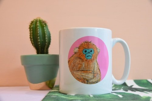 Golden Snub Nosed Monkey Mug