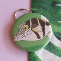 Saddled Pufferfish Keyring
