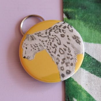 Snow Leopard Keyring