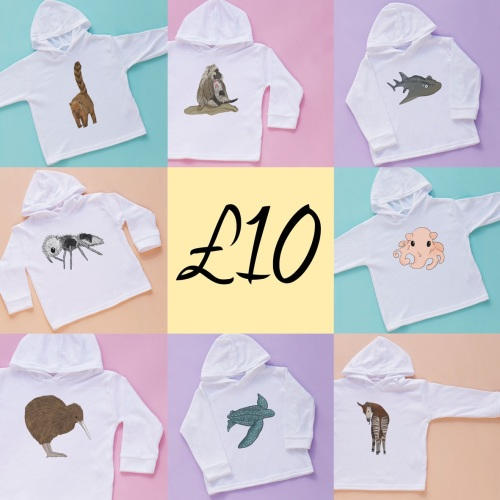 CLEARANCE - Amazing Animals Hooded Tee