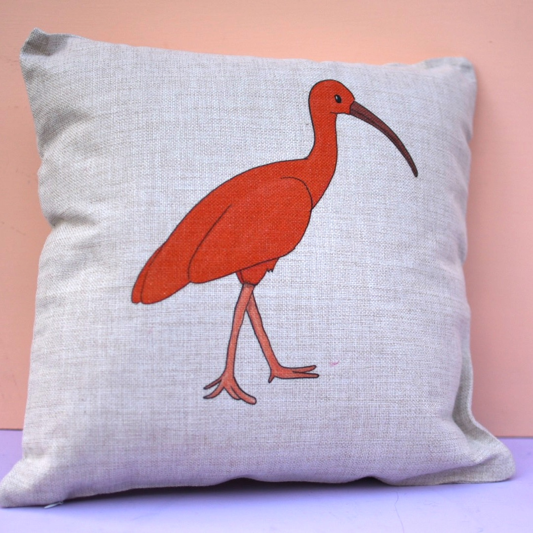 Scarlet Ibis Cushion