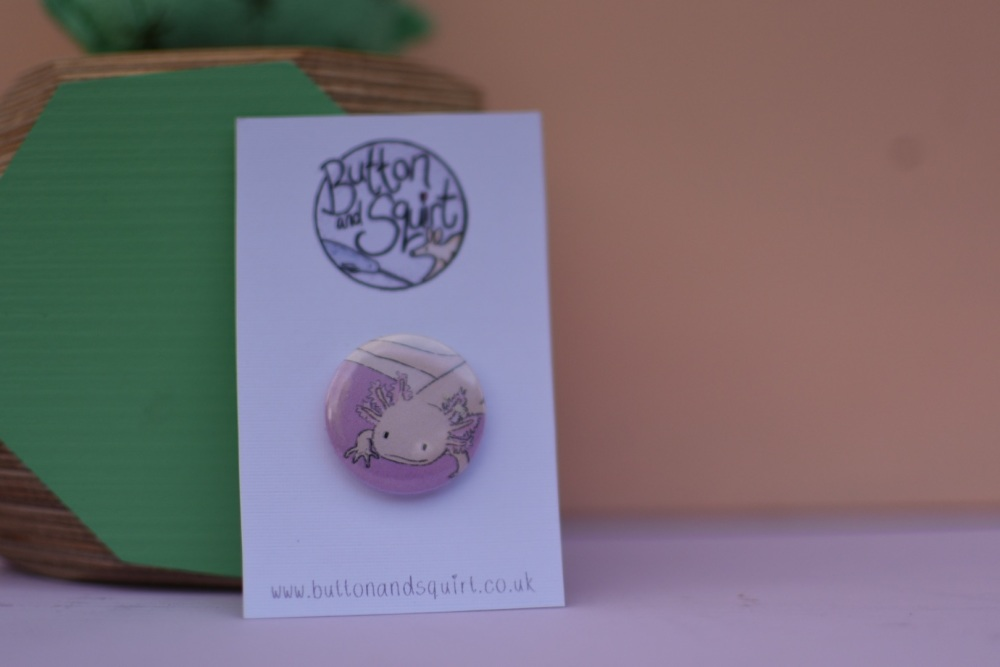 Axolotl 25mm Badge