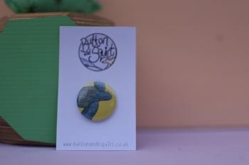 Leatherback Turtle 25mm Badge
