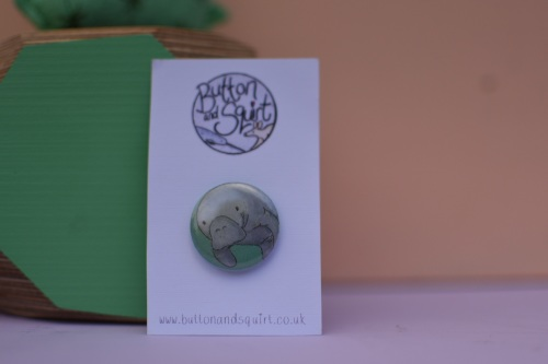 Manatee 25mm Badge