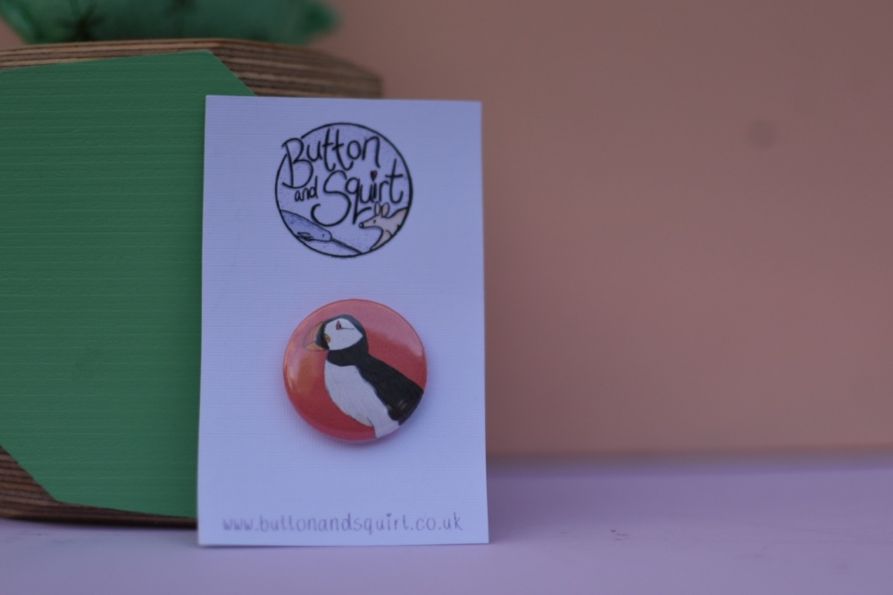 Puffin 25mm Badge