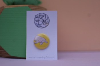 Amazon River Dolphin 25mm Badge