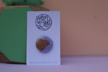 Highland Cow 25mm Badge