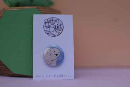 Polar Bear 25mm Badge