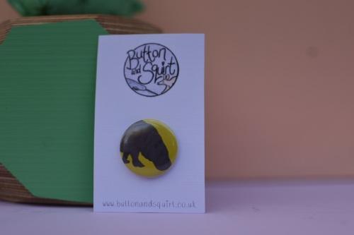 Pygmy Hippo 25mm Badge