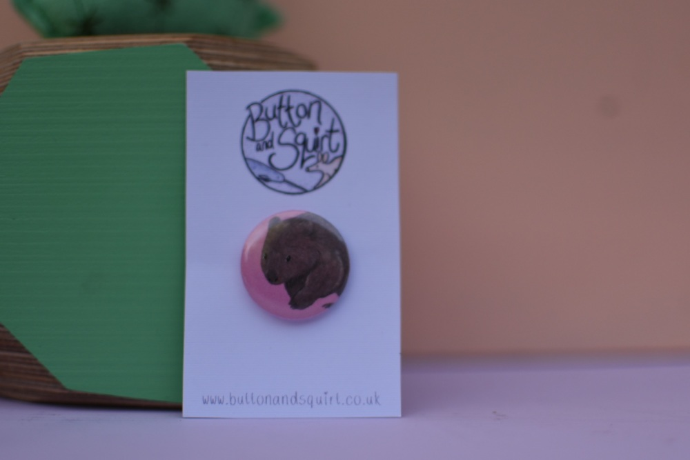 Wombat 25mm Badge