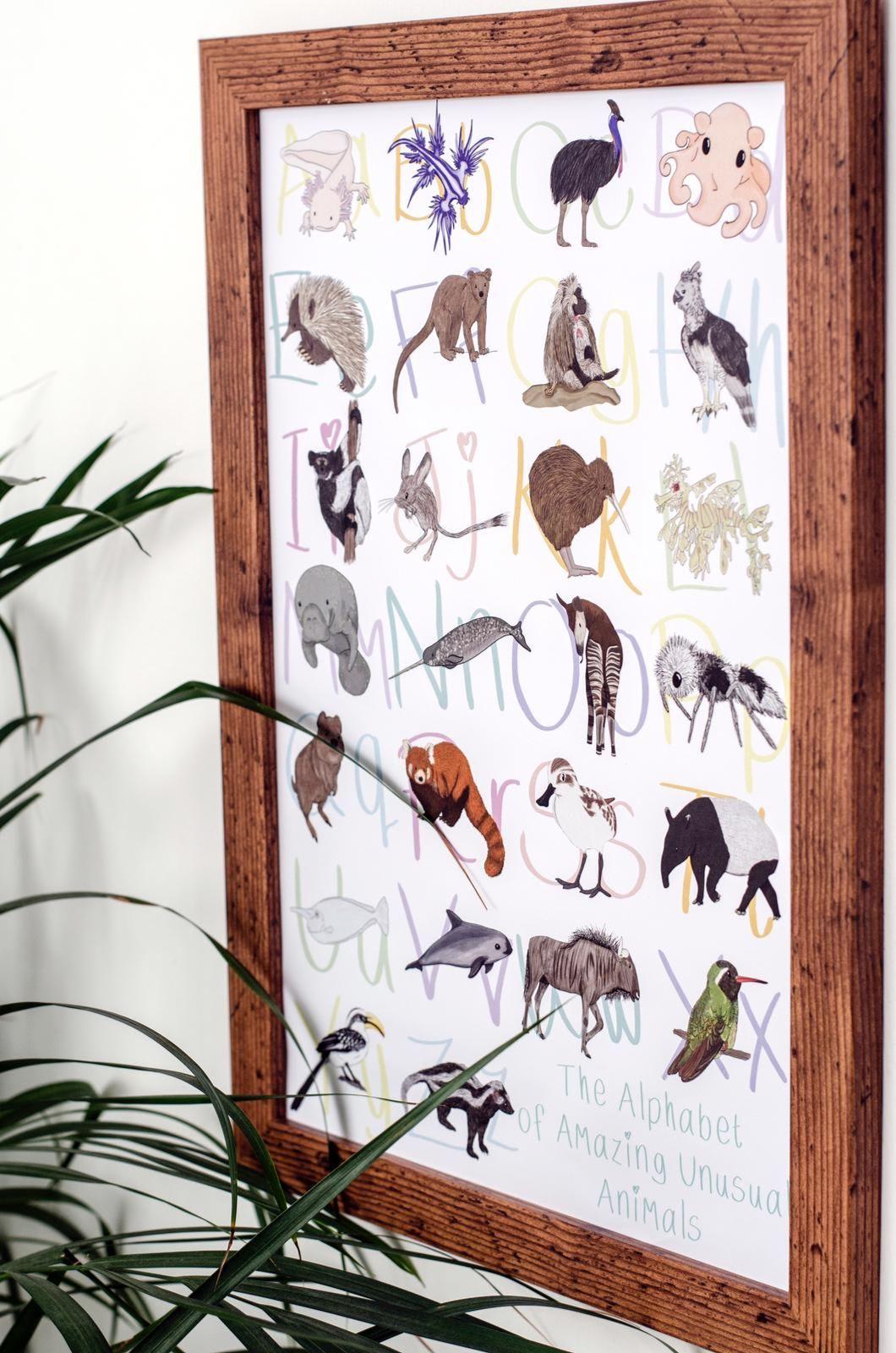 Amazing Animals Alphabet Poster
