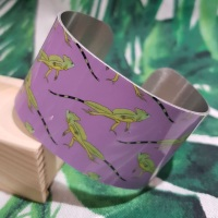 Purple basilisk lizard Bangle