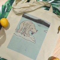 Polar Bear Reflection Tote Bag