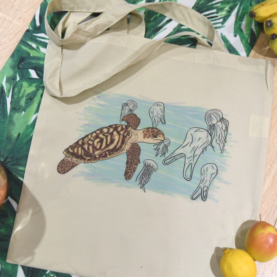 Turtle and Jelly Bags Tote Bag