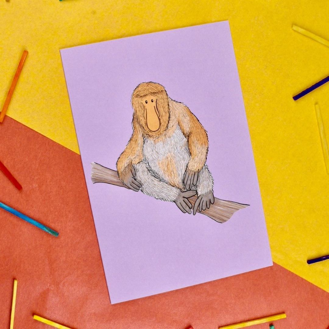 Proboscis Monkey Card