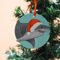 Great White Shark Christmas Decoration