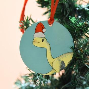 Oviraptor Christmas Decoration