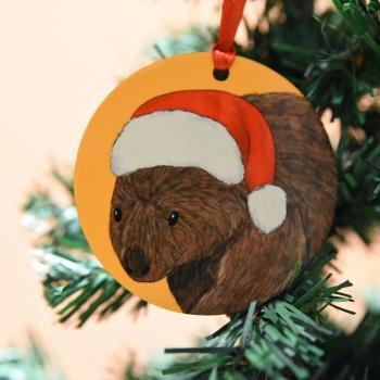 Wombat Christmas Decoration