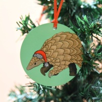 Pangolin Christmas Decoration