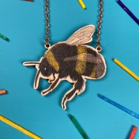 Bumblebee Wooden Necklace
