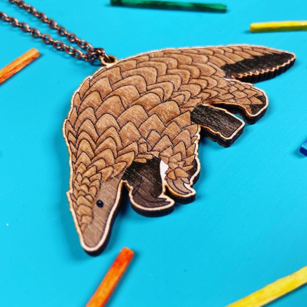 Pangolin Wooden Necklace