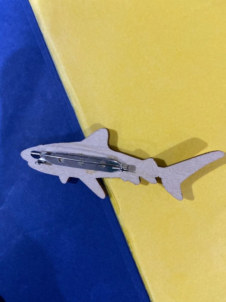 Tiger Shark Brooch