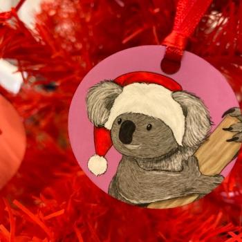 Mini Koala Christmas Decoration