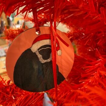 Agile Gibbon Christmas Decoration