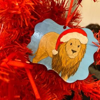 Lion Christmas Decoration