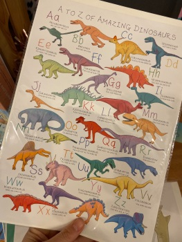 A4 Dinosaur Alphabet Print