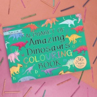 Alphabet of Amazing Dinosaurs Colouring Book