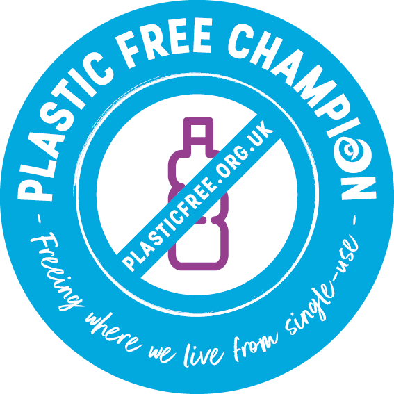 Plastic free business champion surfers against sewage logo
